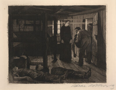 Käthe Kollwitz, 'The End from The Weaver's Revolt', 1897