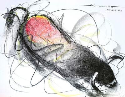 Sujth Kumar G.S. Mandya, 'Bull Drawing - 608', 2015