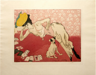 Jacques Villon, 'Les Cartes (Cards: The Game of Solitaire)', 1903