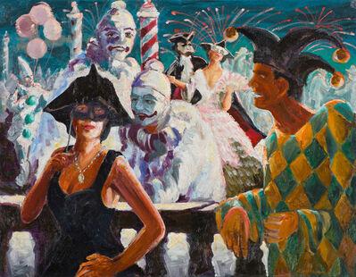 Charles Hoffbauer, 'Masquerade Ball', 19th/20th Century