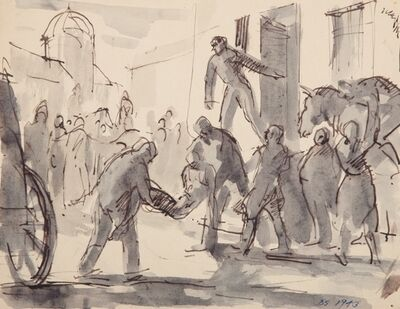 Derek Stafford, 'Study for Painting', 1942