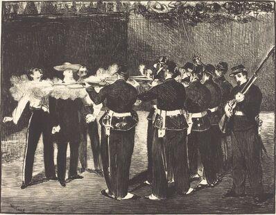 Édouard Manet, 'Death of Maximilian at Queretaro (L'execution de Maximilien)', 1867