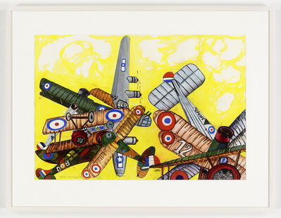 Malcolm Morley, 'Fighter and Bombers Air Battle Jam in Lemon Skies', 2009