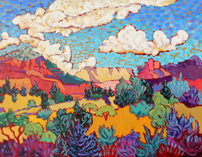 """Claudia Hartley, '""""Clouds Over Red Rocks""""', 2017"""