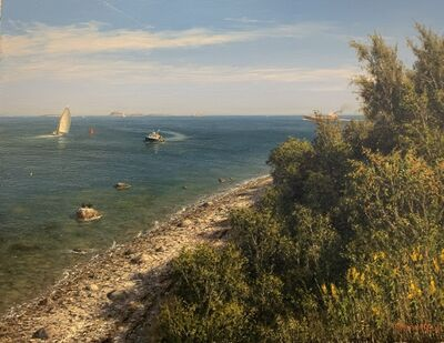 Joseph McGurl, 'The Boston Harbor Islands Project: Hauling Traps Off Peddocks Island', 2021