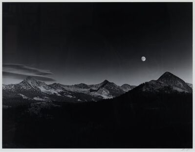 Ansel Adams, 'Sierra Nevada: Autumn Moon, The High Sierra From Glacier Point', 1948