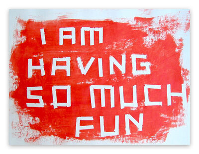 Daniel Göttin, 'A12 - I am having so much fun', 2005