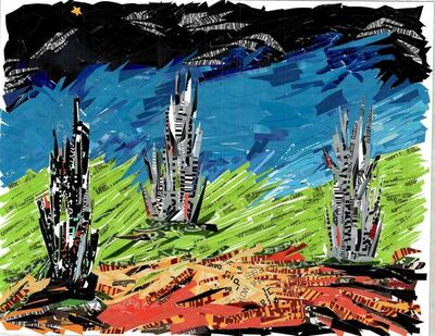 Sam Ben-Meir, 'Landscape in Blue and Green'