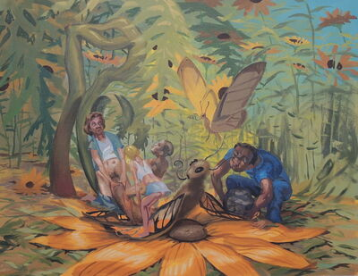 Tom Torluemke, 'Gang Raping a Butterfly', 2011