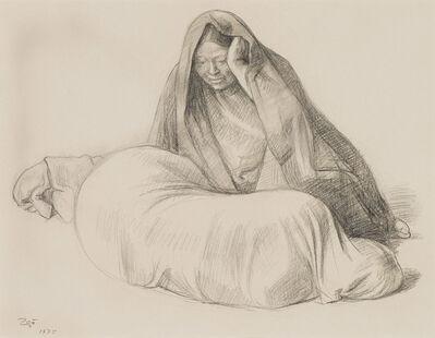 Francisco Zúñiga, 'Mujer Sentada y Mujer Acostada', 1975