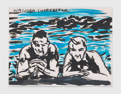Raymond Pettibon, 'No Title (Waimea shorebreak.)', 2019