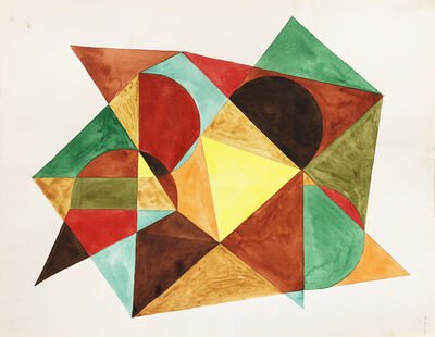 Böhm Lipót Poldi, 'Abstract composition', 1986