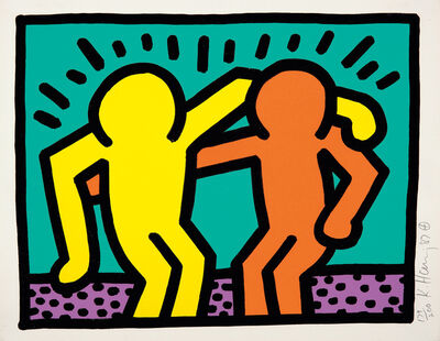 Keith Haring, 'Best Buddies, from Pop Shop I', 1987