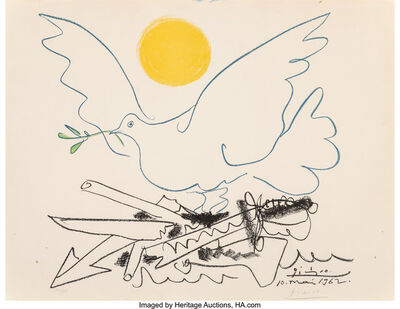 after Pablo Picasso, 'Dove of Peace', 1962