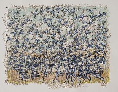 Jean-Paul Riopelle, 'Les oies bleues', 1981