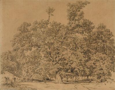 Théodore Rousseau, 'Trees and Cottage (Arbres et chaumière)', After 1844
