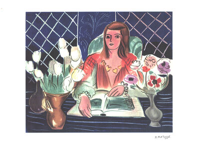 Henri Matisse, 'Annelies, White Tulips, and Anemones', (Date unknown)