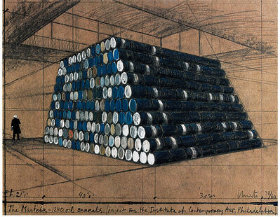 Christo and Jeanne-Claude, 'The Mastaba - 1240 Oil Barrels', 1998