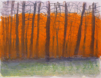 Wolf Kahn, 'Orange in Back', 2007