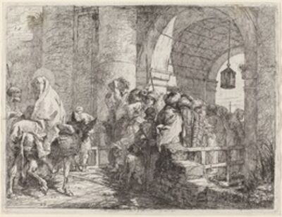 Giovanni Domenico Tiepolo, 'The Holy Family Arriving at a City Gate', published 1753