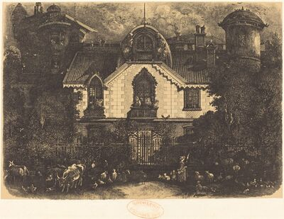 Rodolphe Bresdin, 'La Maison Enchantée (The Haunted House)', 1871