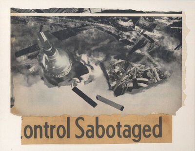 "George Herms, 'Sepia Jones (""Control Sabotaged"")', 2003"