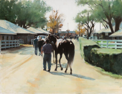 Joanne Mehl, 'Heading to the Paddock', Contemporary