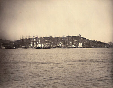 Isaiah West Taber, 'View of Telegraph Hill and Waterfront, San Francisco from the Bay', 1880s