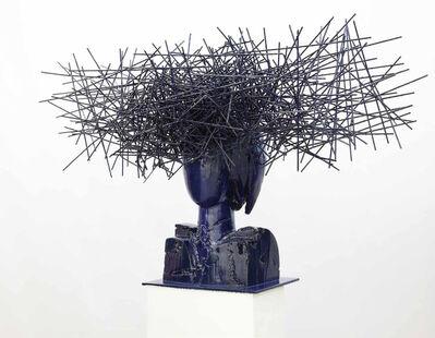 Manolo Valdés, 'Head in blue II', 2016