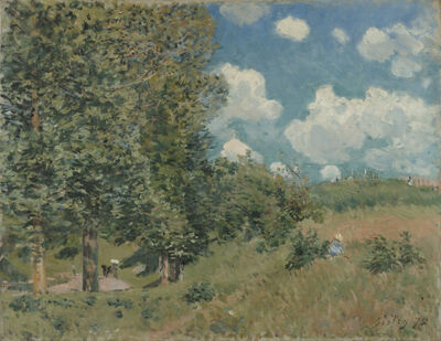 Alfred Sisley, 'The Road from Versailles to Saint-Germain', 1875