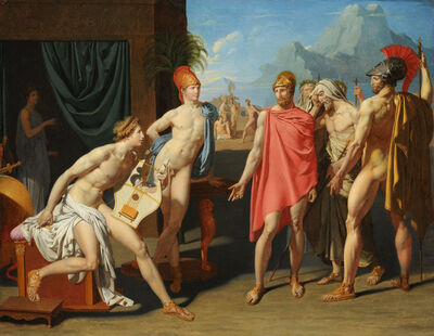 Jean-Auguste-Dominique Ingres, 'Achilles Receiving the Ambassadors of Agamemnon', 1801