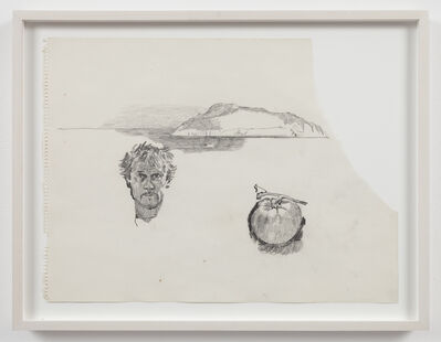 Paul Thek, 'Untitled (self-portrait, tomato, island)', 1970