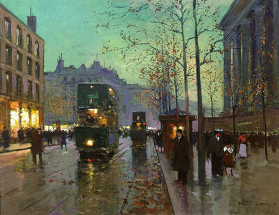 Edouard Léon Cortès, 'Place de la Madeleine by Edouard Léon Cortès', 1919