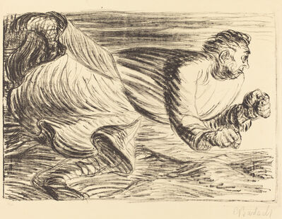 Ernst Barlach, 'The Raging Barbarian', ca. 1916/1917