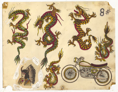 Rosie Camanga, 'Untitled (Dragons Motorcycle)', ca. 1950