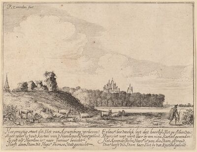 Pieter Jansz. Saenredam, 'Ruins of Assemburg Castle', probably c. 1628