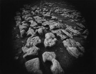 Emmet Gowin, 'Field Stones, Yorkshire', 1972