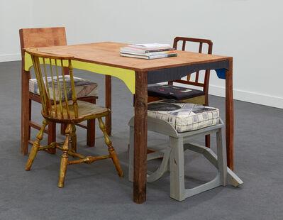 Chris Johanson, 'Table + 2 Chairs', 2018