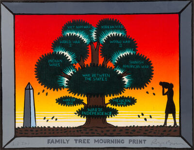 Roger Brown, 'Family Tree Mourning Print', 1987