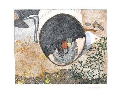Kudluajuk Ashoona, 'Untitled (Barrel with Burnt Cans)', 2019