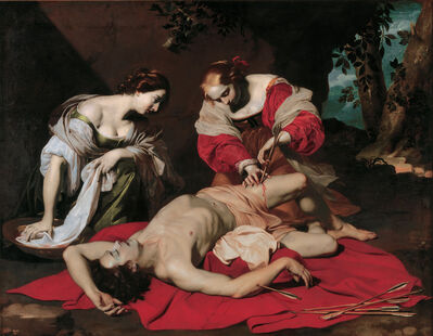 Nicolas Régnier, 'Saint Sebastian tended by the Holy Irene and her Servant', 1626-1630