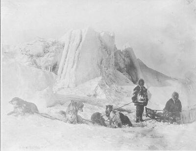 Attributed to Beverly Bennett Dobbs, 'Dog Team on Ice', 1903-1906