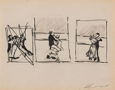 "Luc Tuymans, 'drawing for ""Ballroom Dancing""', 2005"