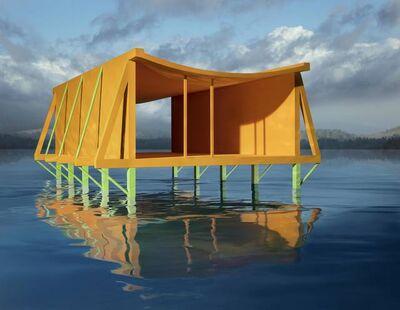 James Casebere, 'Orange House on Water', 2019