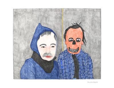 Kudluajuk Ashoona, 'Untitled (Skull Mask with Moustache)', 2019