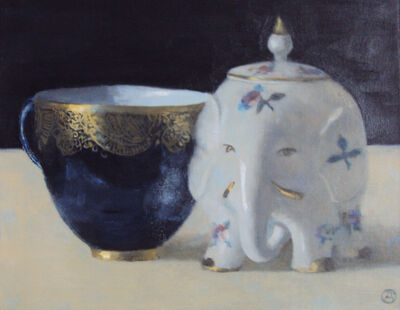 Olga Antonova, 'Blue cup with Elephant', 2018