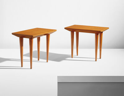 Attributed to Jean Royere, 'Pair of side tables', circa 1957