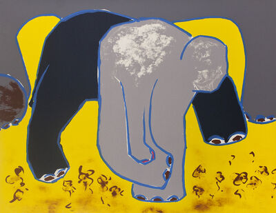 David Hare, 'Elephant In Violets', 1987