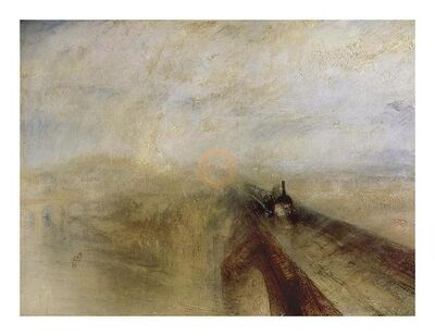 J. M. W. Turner, 'Rain, Steam And Speed The Great Western Railway Painted Before, 1844', 21st Century