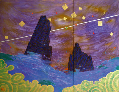 Uli Weigelt, 'Purple Deluge - Diptychon', 2006